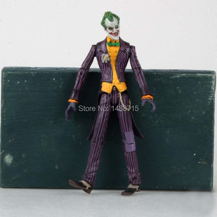 "Hot DC Comics Classic Game Movie Super Hero Batman Arkham Asylum arch-villian The Joker 7"" Action Figure Toys(China (Mainland))"