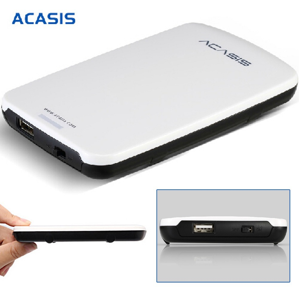 Гаджет  New Original 10062TW ACASIS FA-05U 2.5 Inch USB2.0 External Hard Drive Disk HDD Enclosure Case With Cable For 9.5mm SATA HDD None Компьютер & сеть