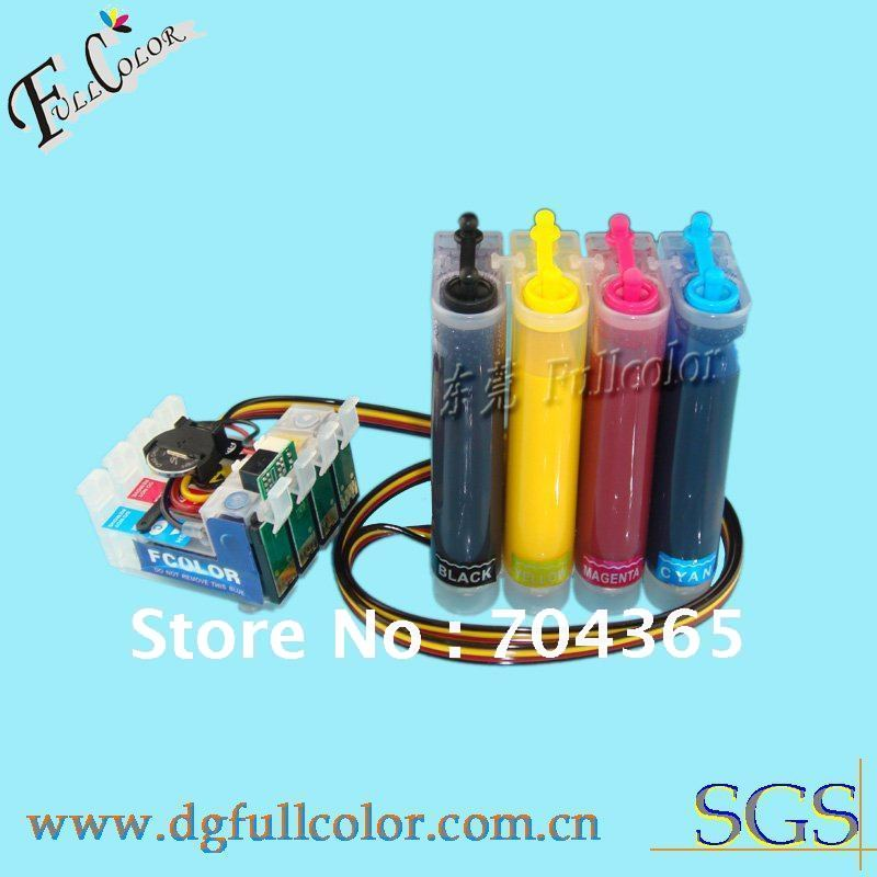 Free shipping  T1251-T1254 Continuous ink system CISS  with Sublimation ink for Epson printer Stylus NX420<br><br>Aliexpress