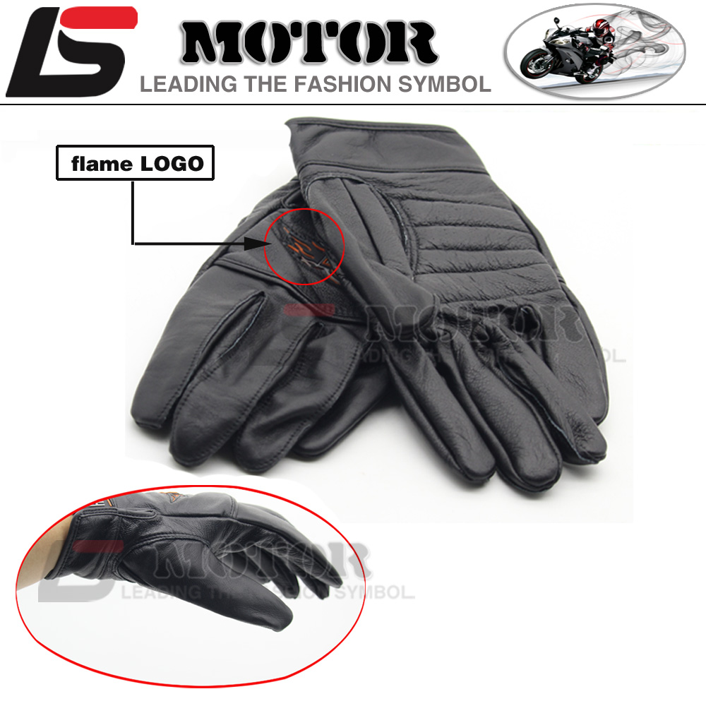 Motorcycle gloves review 2016 - Nwe 2016 Hot Sale For Harley Motorcyclists Leather Gloves Long Section Of Men S Leather Motorcycle Gloves Flame Gloves