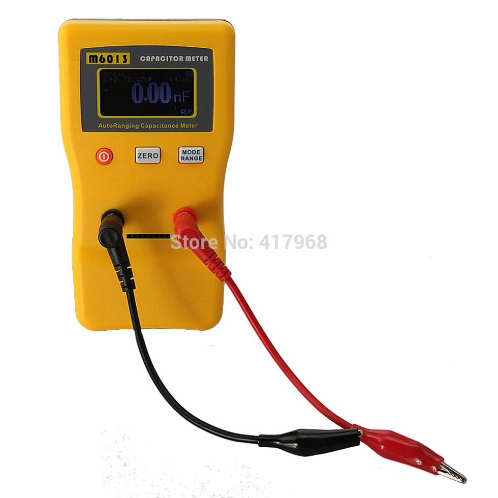 Quality Digital Capacitor Capacitance Tester Meter 0.01pF to 470mF + probe Free shipping newly upgraded M6013 V2 Auto Range