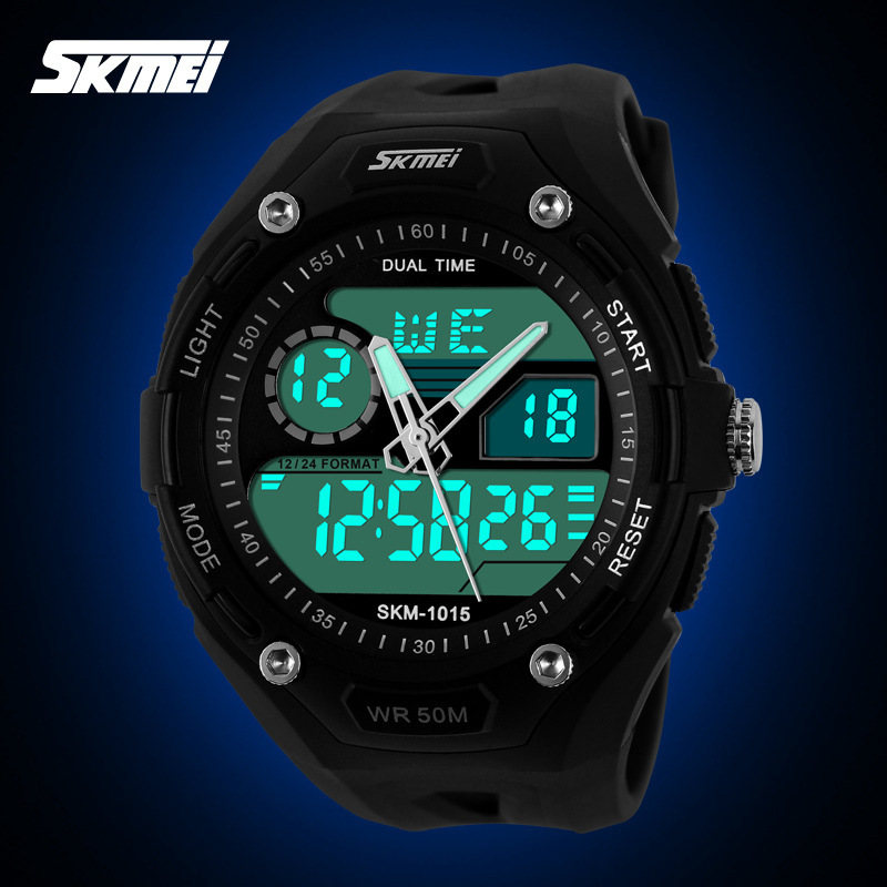 Popular Brand Name 50M Water Resistant Men Multi Functional Sports Watches Analog Chronograph Digital Rubber Wristwatch NW763<br><br>Aliexpress