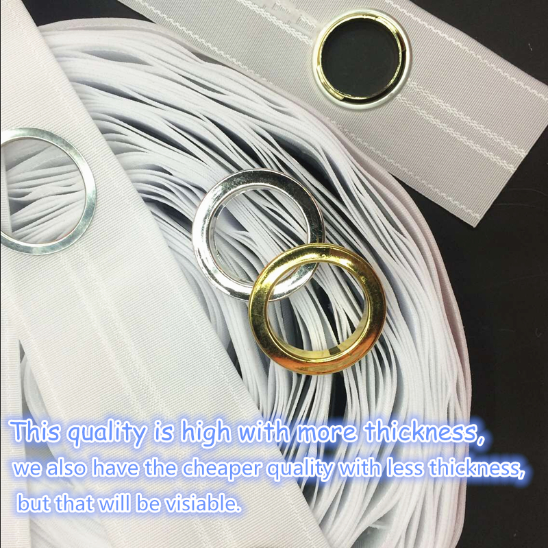 8 Holes/M High quality Curtain accessories polyester white color eyelet curtain tape Contains the curtain ring 10M/roll(China (Mainland))