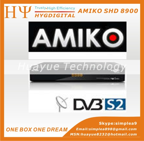 New Amiko SHD 8900 Alien Linux Systerm Enigma2 Dual Boot DVB s2 HD Receiver Support 3G &Youtube in Hot Sale(China (Mainland))