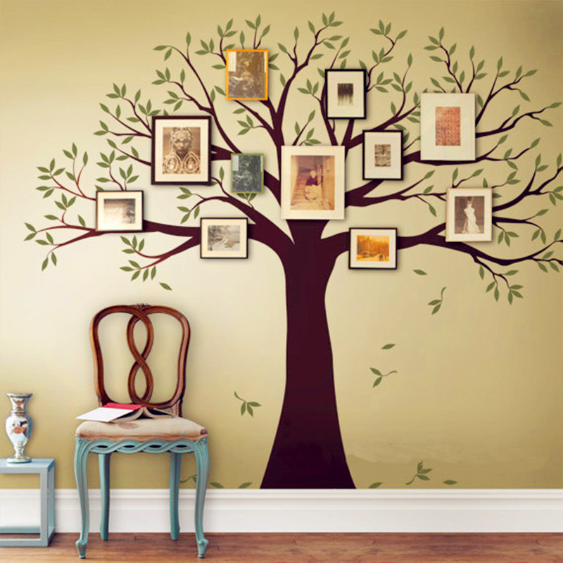 Family tree wall decal tree wall sticker home decor living for Family room wall art