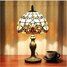 Free shipping Fashion Home decoration, 8 inch height Stained  Art Glass Tiffany Lamp, with 5W LED bulb, Table light (China (Mainland))