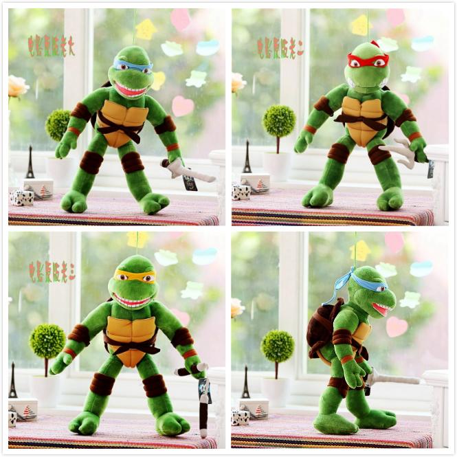 New Cute Movies & TV TMNT the Teenage Mutant Ninja Turtles Plush Toys Soft Stuffed animals doll Gift for Kids Children Birthday(China (Mainland))