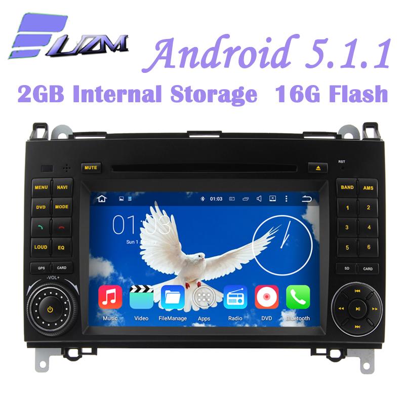 Android 5.1.1 Car Radio 2din 3G Wifi TV Car DVD Player GPS Navi For Benz A-Class W169 B-Class W245 Sprinter Viano Vito Head Unit(China (Mainland))