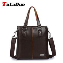 TuLaDuo Brand Bag Men Messenger Bags Business Men PU Leather Laptop Tote Bags Man Crossbody Bag Leather Briefcases Dollar Price(China (Mainland))