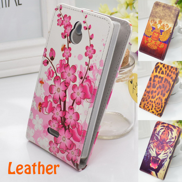 Vertical Flip Mobile Phone Up and Down Leather Case Cover for Nokia X2 Free Shipping(China (Mainland))