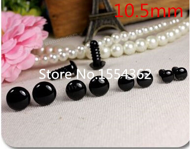 Free shipping!!! 100piece 10.5mm black Safety Eyes suitable for Amigurumi /plastic toy eyes/DIY Doll Accessories(China (Mainland))