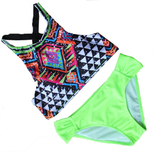 2016 Hot Sale Bikini Set Brazilian Push Up Bikini Swimwear Swimsuit Floral Print Biquini Women Sexy Retro Bathing Suit SJ16031