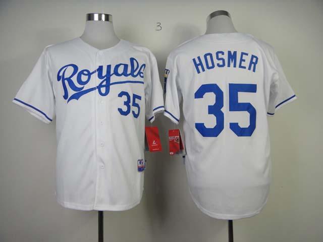 Cheap Men's Kansas City Royals Jersey #35 Eric Hosmer White Cool Base Baseball Jerseys Mix Orders,100% Embroidery(China (Mainland))