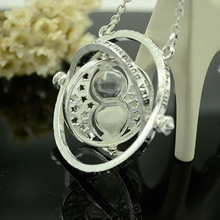 Fashion hot sale classic Harry Potter Hermione Granger Time converter color mixing necklace pendant for friend gift NN003(China (Mainland))