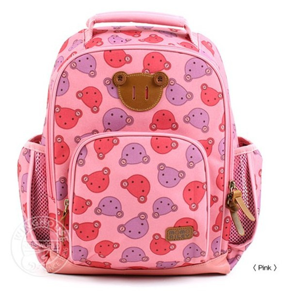 Free Shipping 2015 Wholesale Cheap Cartoon Baby Bear Canvas Children School Bag Kid Toddler Kindergarten Students