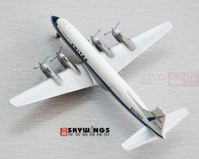 ACN37593 Aeroclassics United Airlines N37593 1:400 DC-6A aircraft commercial jetliners plane model hobby(China (Mainland))