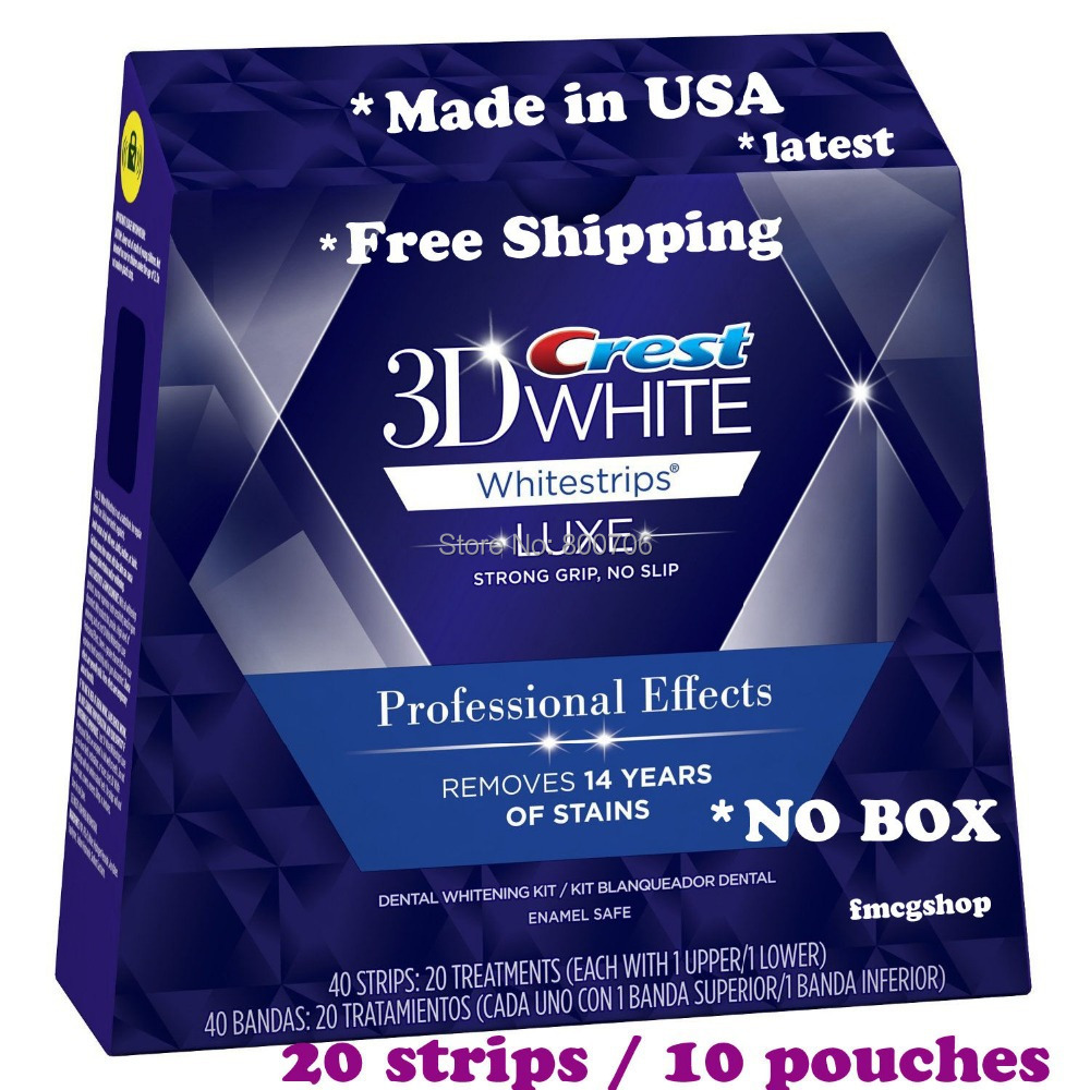 3d White Luxe Crest Whitestrips Professional Effects