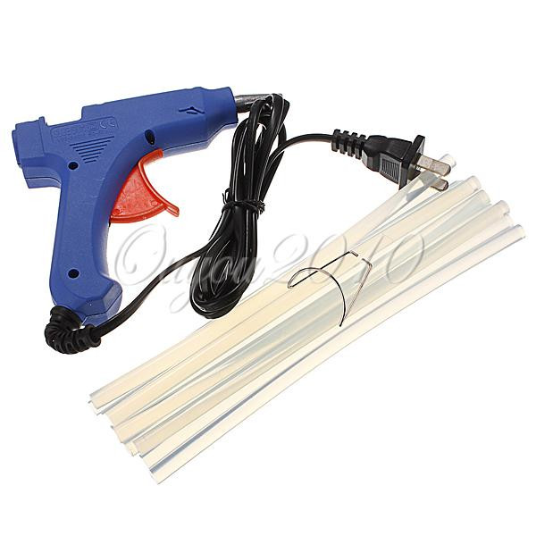 20W 100 240V Professional Mini Electric Heating Hot Melt Glue Gun With 10 PCS Glue Sticks