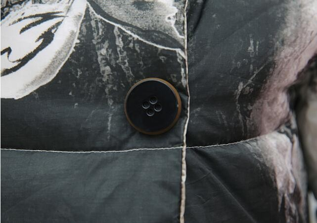 Скидки на 2016 Новых Женщин Зима Большой Поворот Вниз Воротник Хлопок Пуховик Женщина Куртка Женская Пальто Толстые Куртки s40