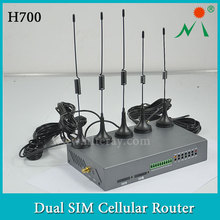 Factory Direct Sell H700 Industrial Wireless 3G Dual SIM Router SIM Slot Two Modem WCDMA CDMA WiFi Router OEM Available