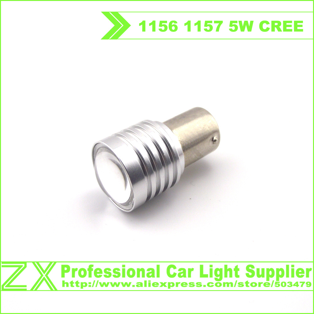 10X Super Bright 5W CREE LED White BA15S 1156 1157 Car styling Parking brake turn headlights front rear lights lamp 12V 24V(China (Mainland))