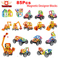 3D Assemblage 85Pcs Lot Building Blocks Model Kit Magnetic Constructor Gift Diy Enlighten Bricks Educational Kids
