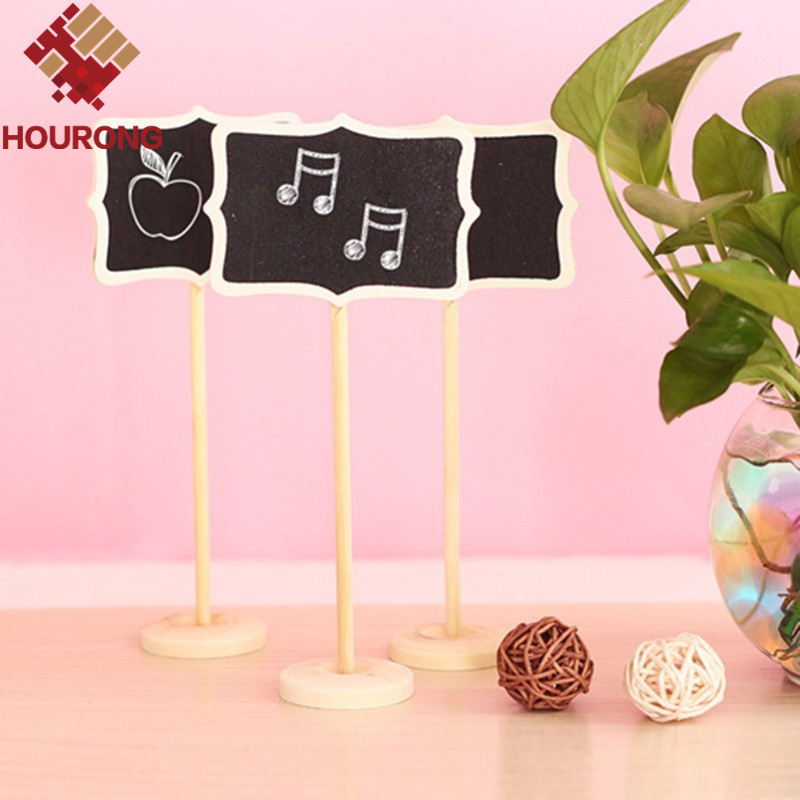10 pcs Mini Wooden Blackboard Chalkboard Stand Place Holder Clip Wordpad Message Note Board Wedding Party Decor(China (Mainland))