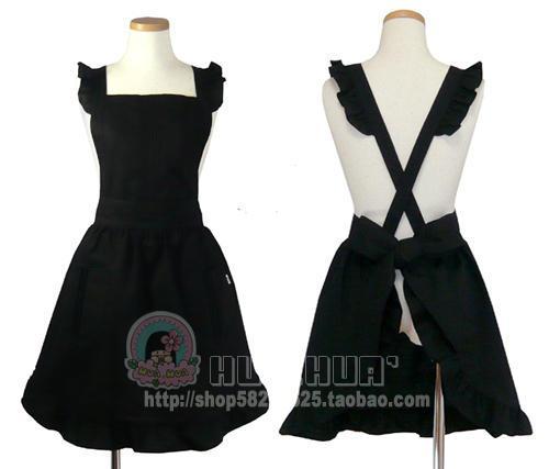 - - - little black dress royal princess gorgeous apron(China (Mainland))