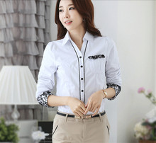 Spring Women Shirt Elegant Korean Style Long Sleeve Bodysuit Tops Office Woman Clothes Blusas Feminina Blouse Shirt Female Tops(China (Mainland))