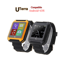 Smart Watch Uterra Bluetooth 4.0 IP68 Waterproof Pedometer Calls Compass For iPhone Android Mobile Watch Free shipping!!!