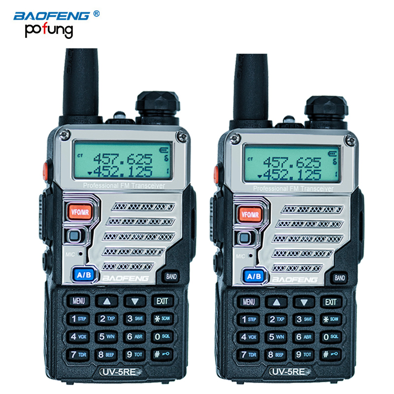 2 PCS Baofeng UV-5RE Walkie Talkie Dual Band CB Radio baofeng UV5R Updated version 5W 128CH UHF&VHF portable two way radio(China (Mainland))