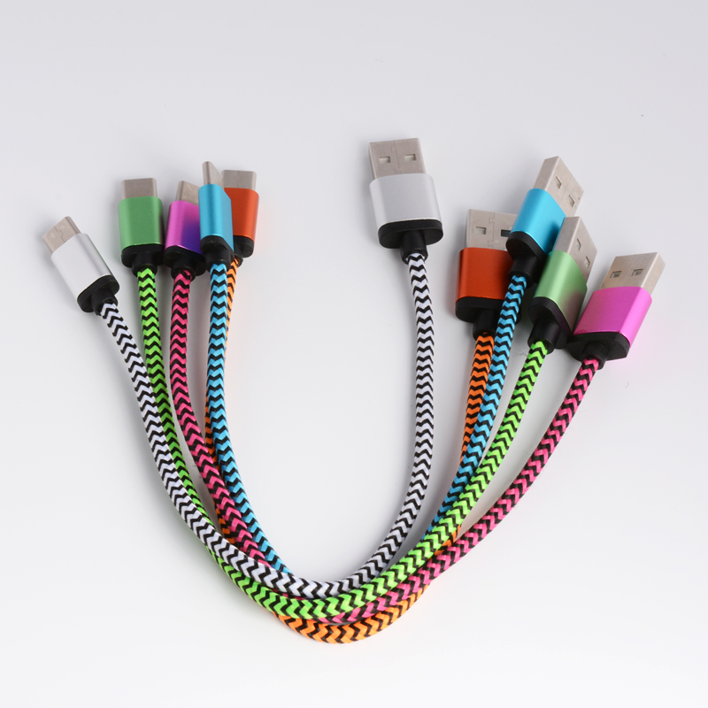 0.2M 1M Short and long Fabric nylon braided Type-C Type C usb 3.1 sync charger cable for Xiaomi 4C / Leshi / Nokia N1 By post(China (Mainland))