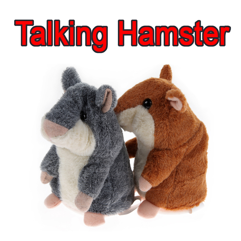 New Creative Talking Hamster Plush Toy Kids Speak Talking Sound Record Educational Toy Plush Animals Toy FCI#(China (Mainland))