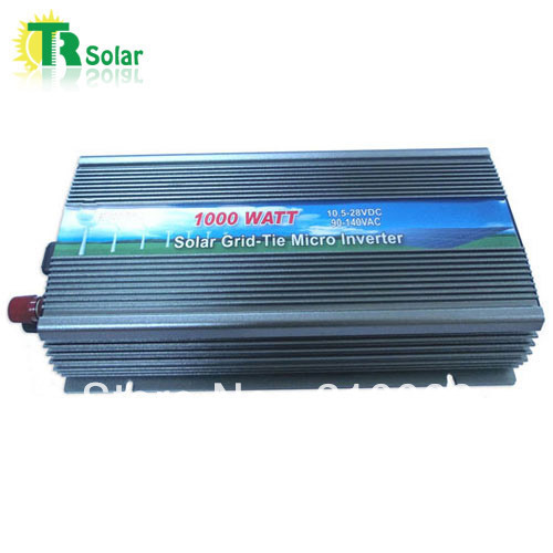 3 pieces/lot free shipping 1000W Gird Tie Pure Sine Wave Micro Solar Inverter Matched with the 12-18V solar panel for Home Using