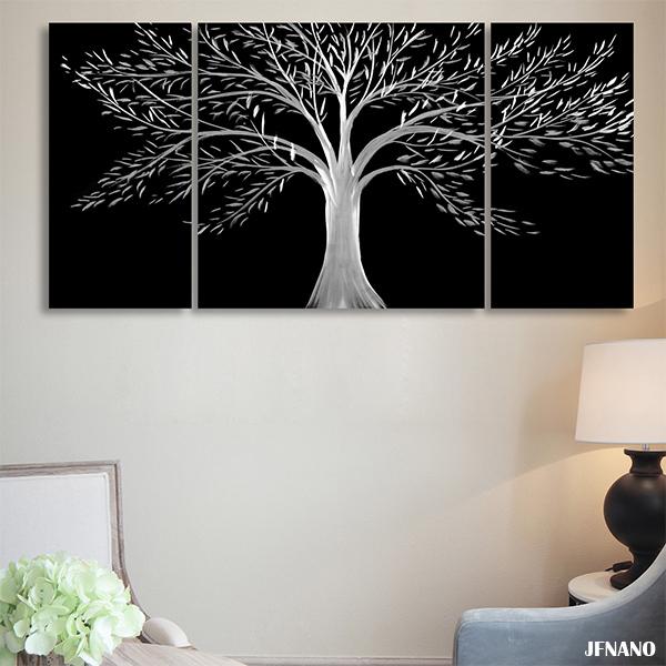 Metall baum wand dekoration kaufen billigmetall baum wand for Wand kunst wohnzimmer