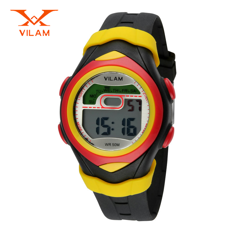 High quality brand VILAM silicone kids watch 50ATM waterproof wristwatch children swimming watch outdoor sports watches VL0645