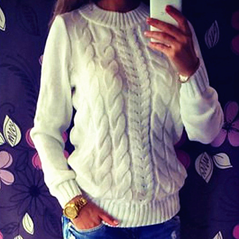 2017 Sell like hot cakes Women Long Sleeve Loose Sweater Knitted Coat Jacket Outwear Casual In spring, autumn pullovers(China (Mainland))