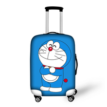 Lovely cartoon waterproof luggage cover doraemon travel suitcase covers blue elastic luggage covers for 18-30 inch maleta viaje(China (Mainland))