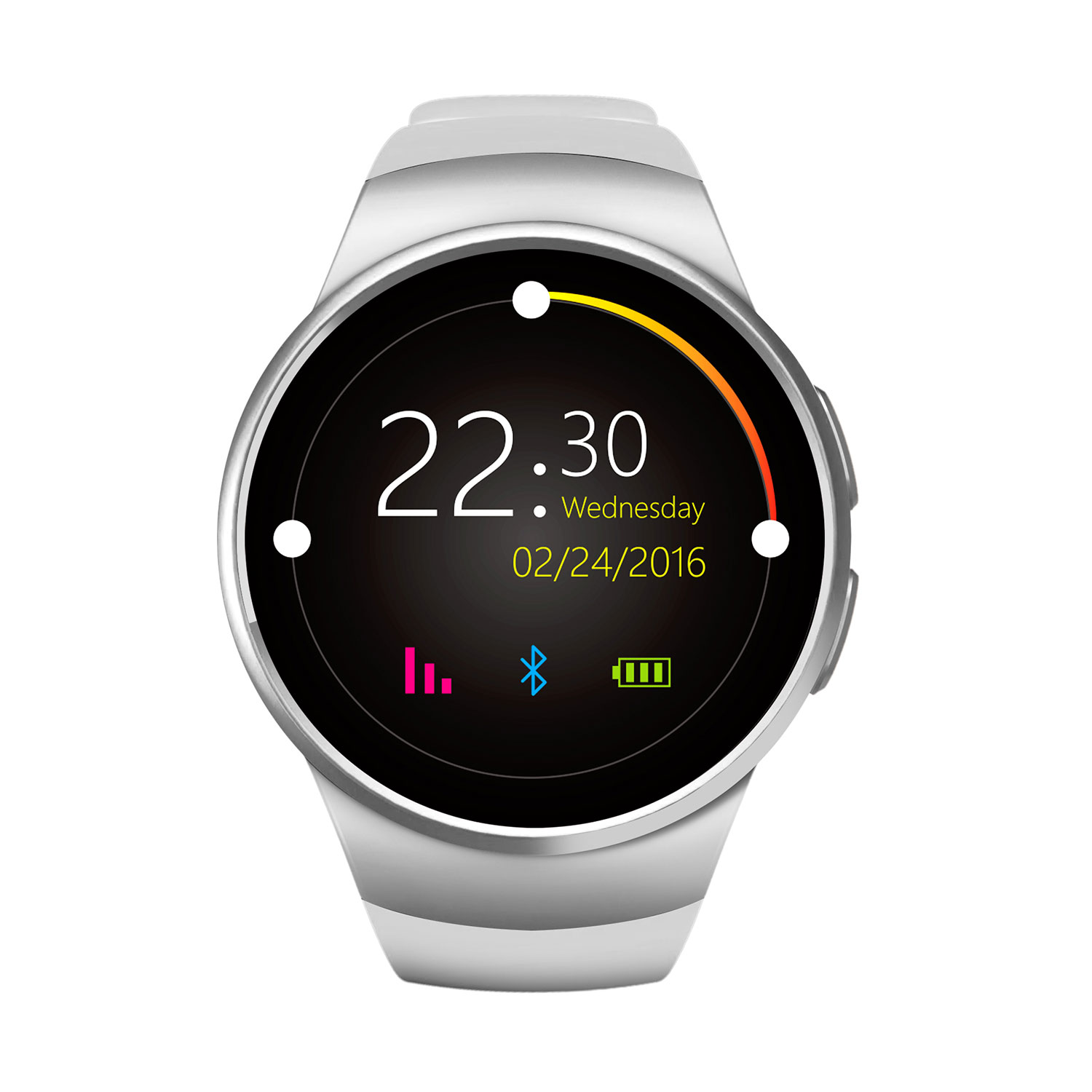 Fashion Round Smart Watches New KW18 Heart Rate Monitor Smartwatch Sim Bluetooth Watch Wearable Devices for Android ISO Apple(China (Mainland))
