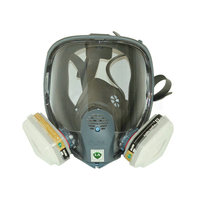 For 6800 Gas Mask Full Facepiece Respirator 7 Piece Suit Painting Spraying with 5N11 Filters and 6001CN Organic Vapor Cartridge