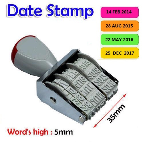 Free Shipping Rubber Manual Set Date Stamp + Date Label For Business/ Office /School(China (Mainland))