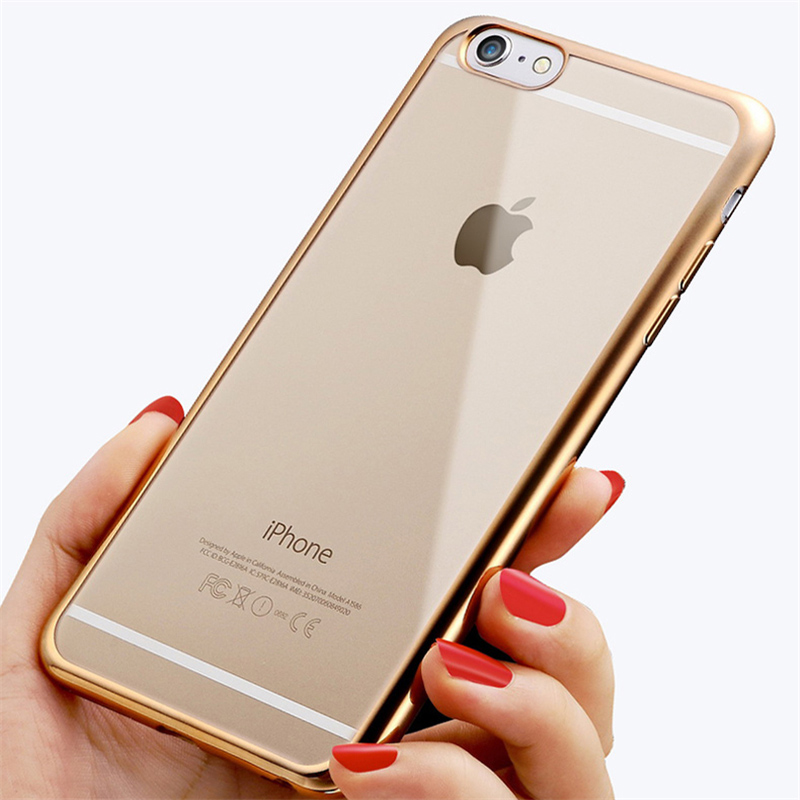 Ultra thin Plating Crystal Clear TPU soft case for iphone 5s se 6s 6 plus for samsung galaxy s7 edge s7 s6 s6 edge plus note 5(China (Mainland))