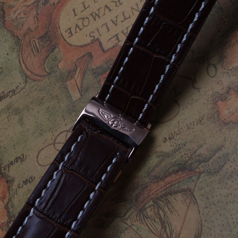 Новое поступление 22 мм 24 мм ремешок для часов высокое качество коричневый кожаный часы браслет с rosegold развертывания застежка для роскошные часы горячие