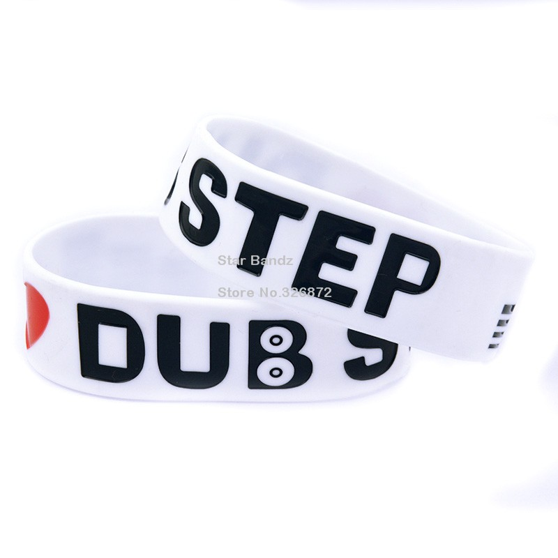 Promo Gift 1PC I Love DUB STEP Wristband Latex-Free Silicone Bracelet, Great For Music Fans To Wear