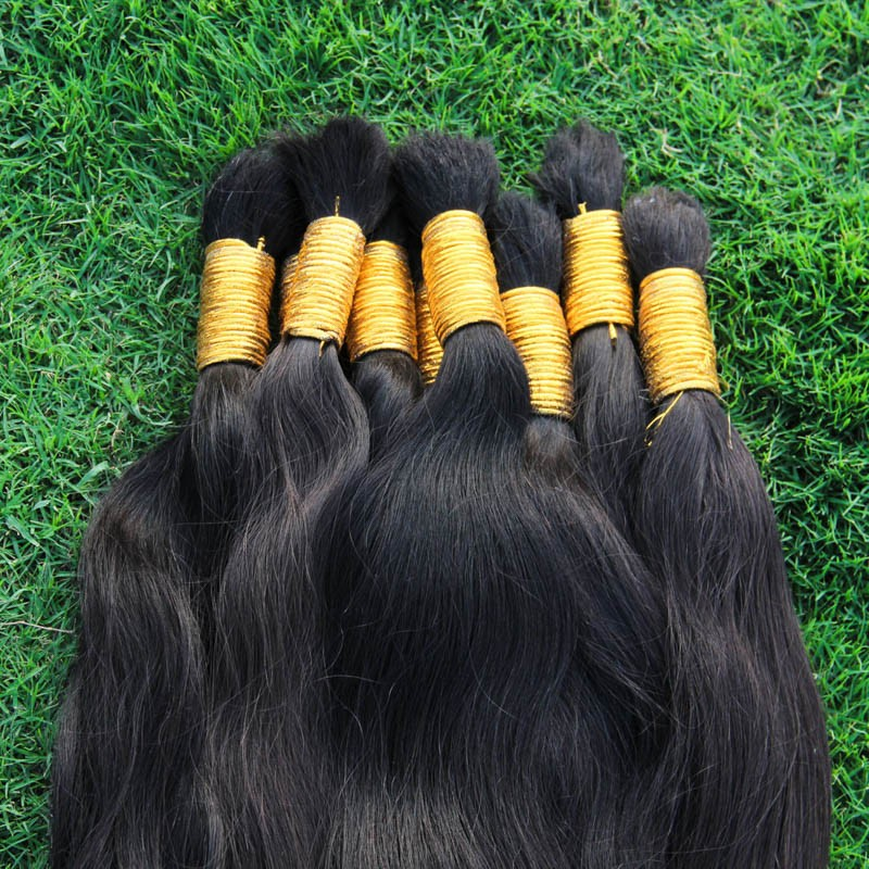 8A Best Quality Brazilian Virgin Hair 1kg 100% Undye Hair No Weft Bulk Human Braiding Hair Virgin Unprocessed Braiding Hair Bulk