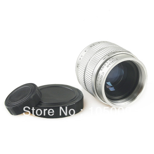 """C mount CCTV 35mm F1.7 Movie Lens 2/3"""" silver E-P3 E-P2 E-PL3 E-PL2 E-PL1 GF3 GF2 GH2 G3 G2"""