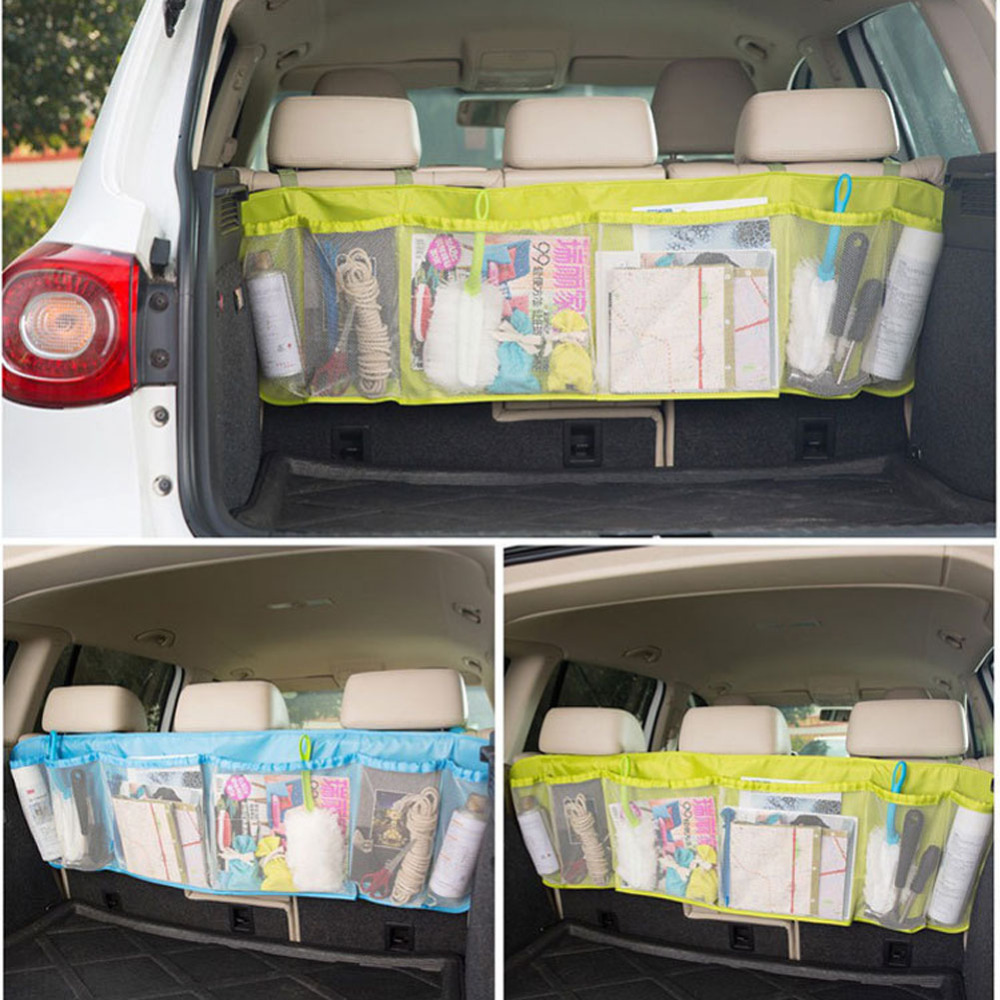 Hot Sale 110cm*34cm Car Trunk Organizer Seat Cover Toys DVD Storage Container Bags Automobiles Auto Styling Accessories Supplies(China (Mainland))