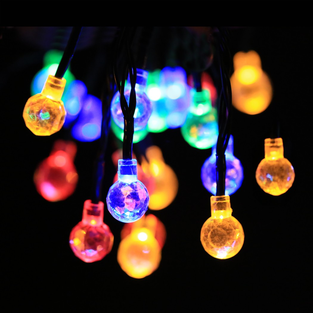 String Of Christmas Lights Image : Aliexpress.com : Buy Novelty Outdoor lighting 5cm LED Ball string lamps Christmas Lights fairy ...