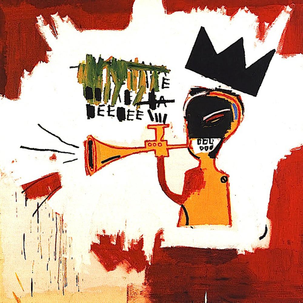 "Graffiti painted wall art Michel Basquiat Neo-Expressionism woven fabric poster 24"" x24"" 13"" x13"" Decor- 03(China (Mainland))"