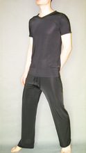 Male sexy sleepwear viscose short-sleeve top loose casual trousers 1230(China (Mainland))